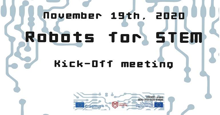 Reunião inicial do projeto Erasmus+ KA201 Robots for STEM